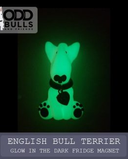 English Bull Terrier – Glow in the Dark Fridge Magnet