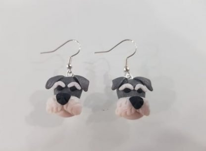 A Pair of Schnauzer Stirling Silver Earrings