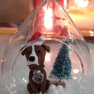 Personalised Christmas Dog Bauble