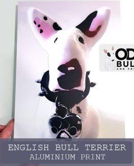 English Bull Terrier Aluminium Print 20x30cm