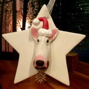 Personalised Hanging Christmas Decoration – Ceramic Star