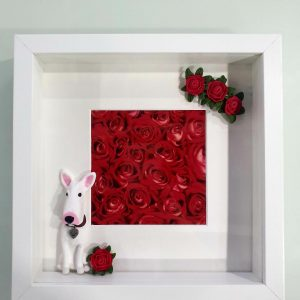 Valentines Day Gift – Red Rose Personalised Frame