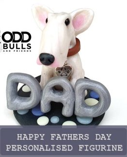 'Happy Fathers Day' Personalised Figurine for up to 2 Dogs