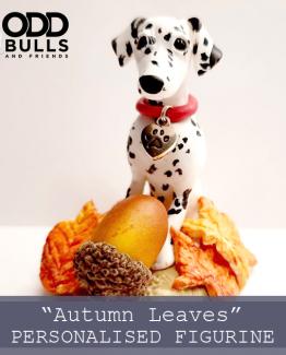 Autumn Leaves Personalised Figurine