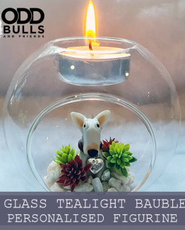 Glass Tealight Bauble Table Decoration