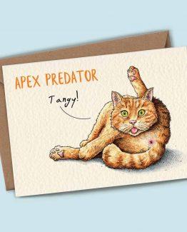 Apex Predator (Tangy) – Cat Greeting Card