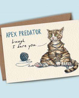 Apex Predator (Tangled) – Cat Greeting Card