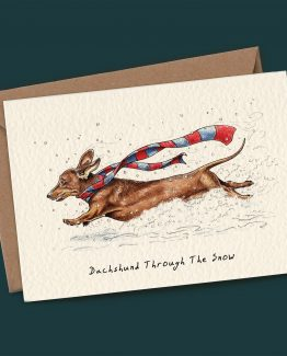 Dachshund Through The Snow – Dog Greeting Card