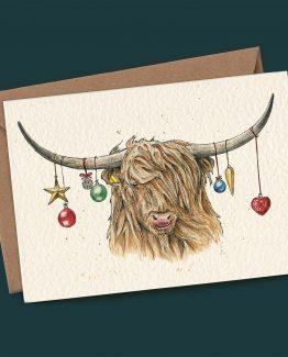 Highland Cow – Christmas Greeting Card