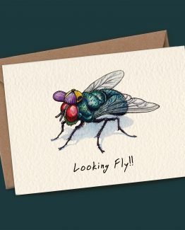 Looking Fly – Greeting Card