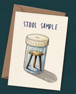 Stool Sample – Greeting Card