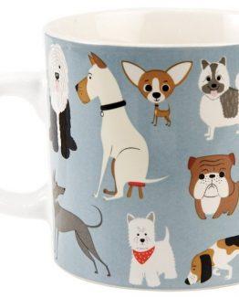 Dog Breeds – Blue Mug