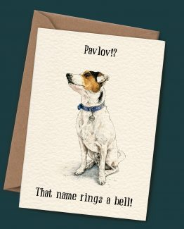 Pavlov – Jack Russell Terrier Greeting Card