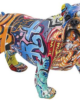 Street Art Bulldog – 33cm Dog Figurine / Ornament