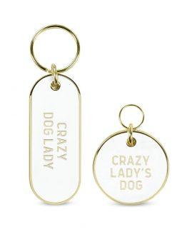 Howligans – Keychain Set – Crazy Dog Lady / Crazy Lady's Dog