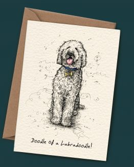 Doodle of a Labradoodle – Dog Greeting Card