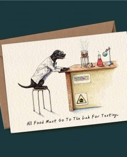 Lab Testing – Dog Greeting Card